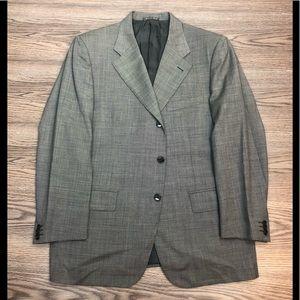 Corneliani Grey & Black Check Sport Coat 42S Short